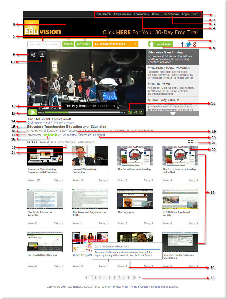 Home Page Main Features