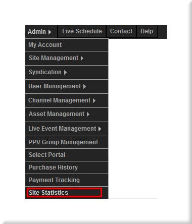 Site Statistics Control Panel