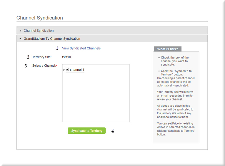 Syndication Menu