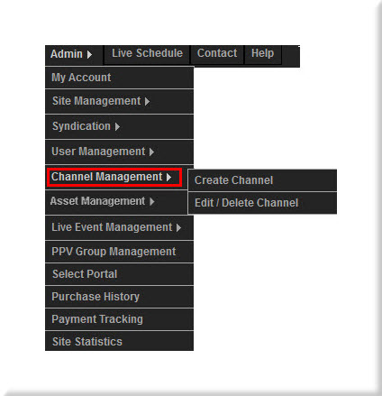Channel Management Menu