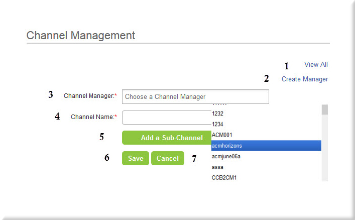 Add Channel Page