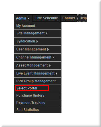 Select Portal Menu