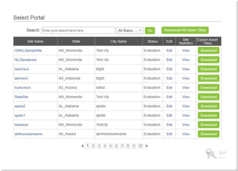Select Portal Page